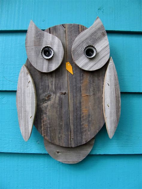 owl item owl wall hanging made of recycled wood by johnbirdsong on etsy