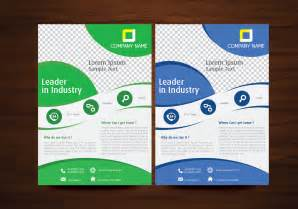 flyer design templates blue and green vector brochure flyer design template
