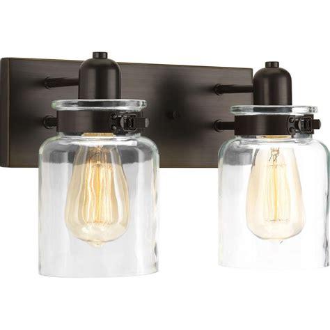 venetian bronze vanity light progress lighting archie collection 17 in 2 light