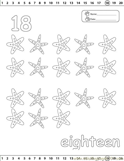coloring page number 18 18 number coloring page free numbers coloring pages