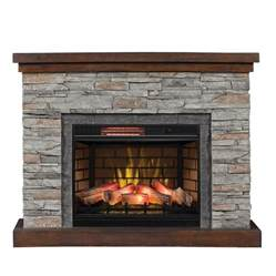 shop duraflame 54 in w 5200 btu cappuccino brown ash mdf