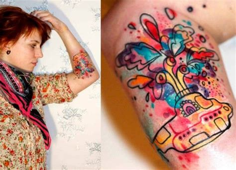 yellow submarine tattoo hlav 225 čkov 225 gives the beatles yellow submarine an