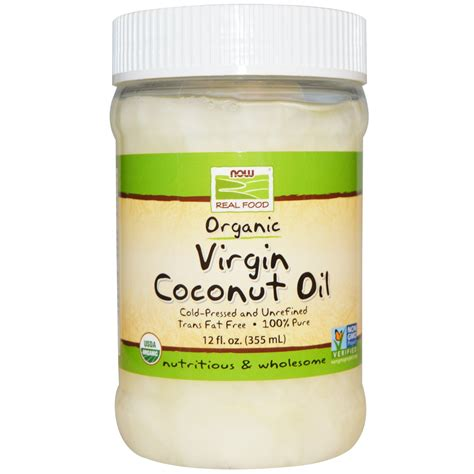 coconut in food now foods organic coconut 12 fl oz 355 ml iherb