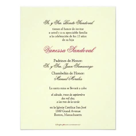 invitations templates for quinceaneras in spanish spanish yellow damask quincea 241 era invitaci 243 n card
