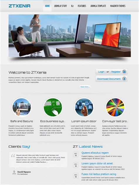 joomla template with video premium responsive joomla templates