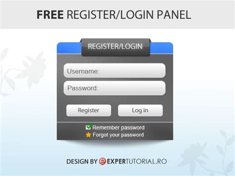 Login Panel Template Free 55 free login sign up and contact form psd files