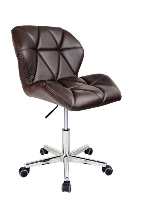 Modern Uranus Padded Swivel Pu Leather Computer Desk Computer Swivel Chair