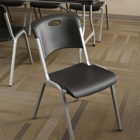 Lifetime Stacking Chairs by Lifetime Stacking Chairs 480310 4 Pack Black Plastic