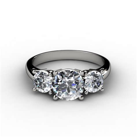 brilliant three engagement ring