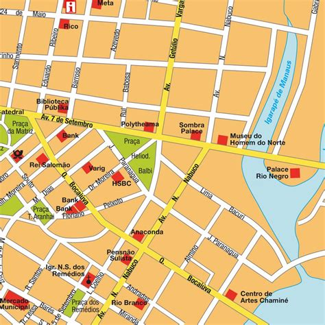 map of manaus map manaus brazil maps and directions at map