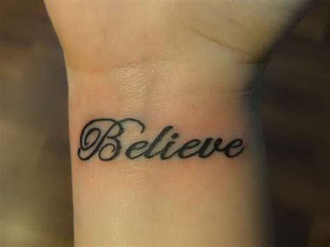 inspirational wrist tattoos believe lettering inspirational tattoos 5374797 171 top