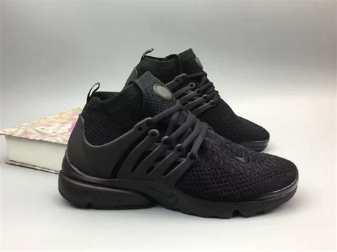 nike air presto flyknit ultra all black shoes nike