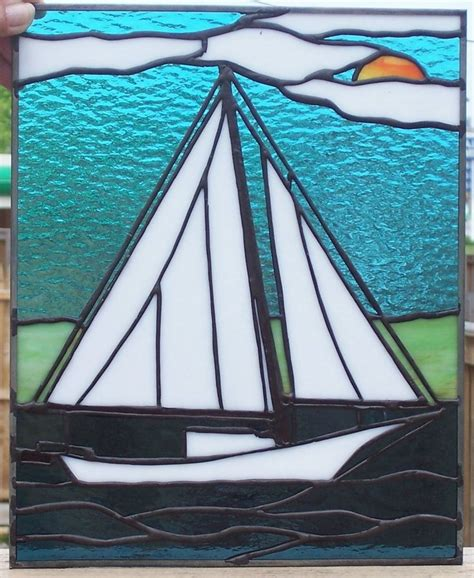 Sailboat Windows Designs 242 Best Images About Stained Glass Bateaux On Pinterest Glass Boat Sailboats And Stained