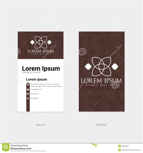 Brown Card Template by Business Card In Brown Color Stock Vector Image 49040327