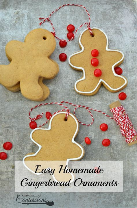 easy homemade gingerbread ornaments  recipe confessions