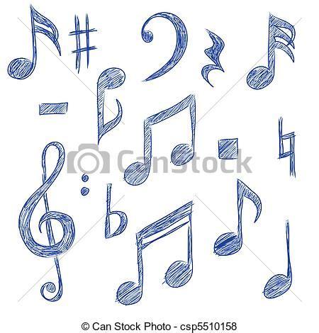 imagenes de simbolos foneticos vector de notas musical sketched dibujos de musical