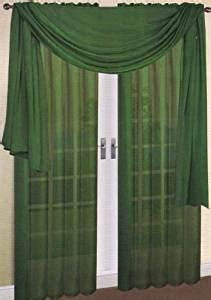hunter green kitchen curtains 2 piece solid hunter green sheer curtains fully stitched