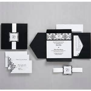 wilton wedding invitation templates black and white scroll monogram pocket invitation wilton