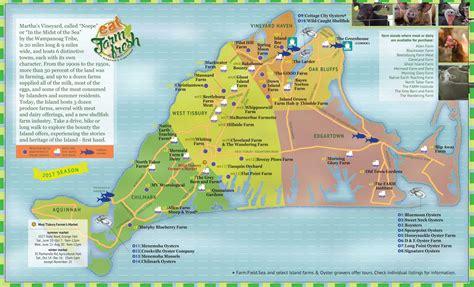 printable road map of martha s vineyard martha s vineyard interactive farm map find farm fresh