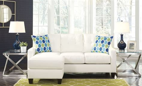 aldie nuvella sofa chaise sleeper aldie nuvella white queen sofa chaise sleeper 6870468 ashley