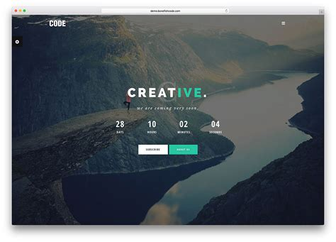 coming soon free html template 20 best coming soon html5 website templates 2017 colorlib