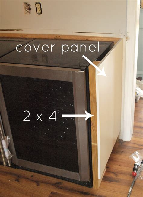how to cover refrigerator with cabinet ikea island cover panel installation nazarm com