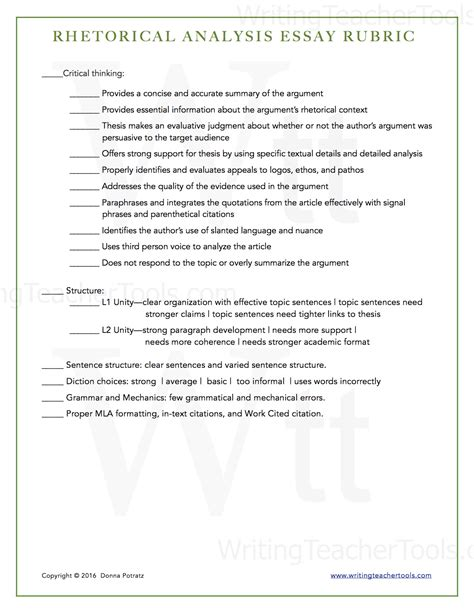 Rhetorical Essay Exles by Rhetorical Analysis Essay Writing Tools
