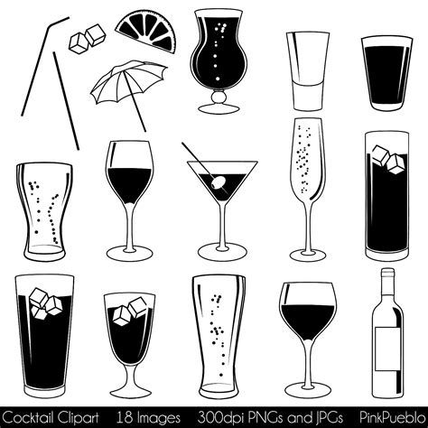 mixed drink clipart cocktail clipart clip art with wine beer chagne