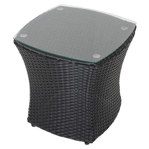 Black Wicker Coffee Table Black Lazio Rattan Wicker Garden Bistro Coffee Table Set