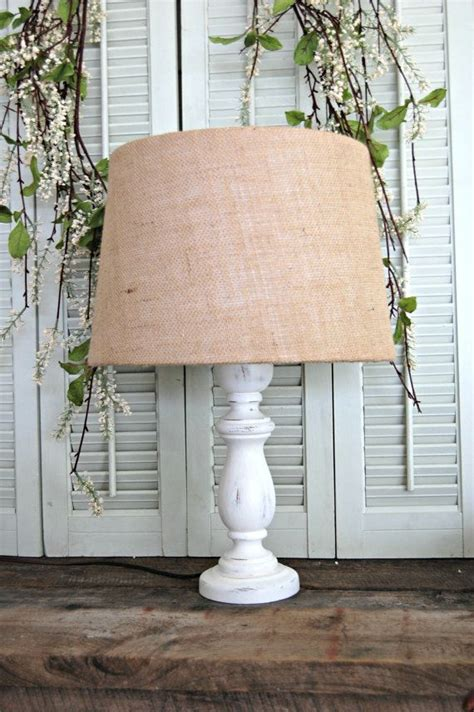 burlap l shade lshade shabby cottage 17 best images about old ls on pinterest l bases