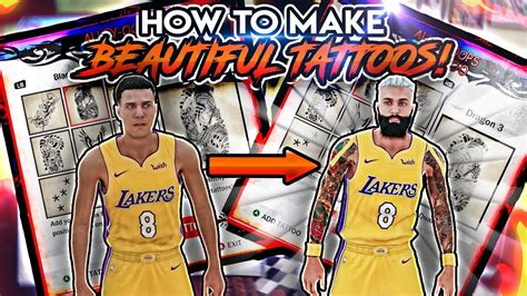 nba 2k18 best tattoo customization tutorial for your nba 2k18 how to make the best tattoos beautiful tattoos