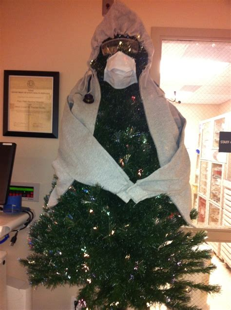 christmas decoration ideas formedical office emergency room tree humor trees trees and