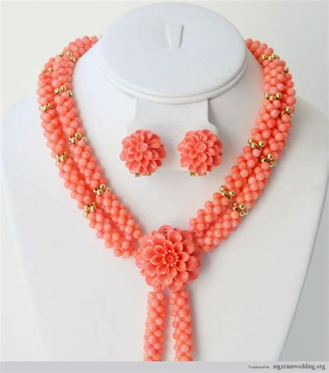nigerian bridal bead necklaces 50 pictures latest designs 46 best images about traditional engagement coral bead