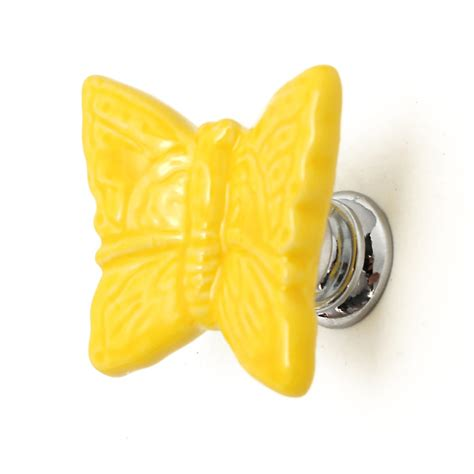 butterfly ceramic door knob cabinet cupboard room