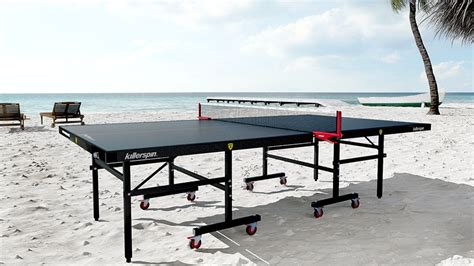 killerspin outdoor ping pong table killerspin myt10 blackstorm outdoor ping pong table