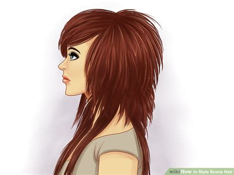 step by step emo hair 5 ways to style scene hair wikihow
