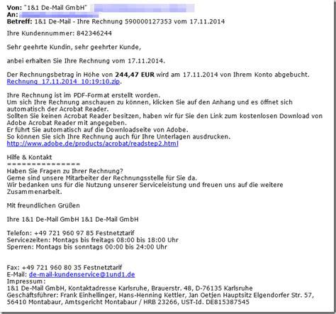 Anschreiben Rechnung Per E Mail Trojaner Warnung Anbei Erhalten Sie Ihre Rechnung Vom