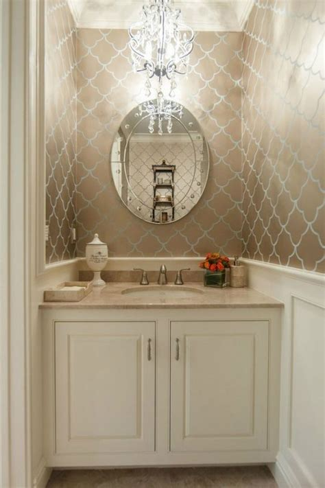 powder room chandelier for the home 6 powder rooms that make a statement