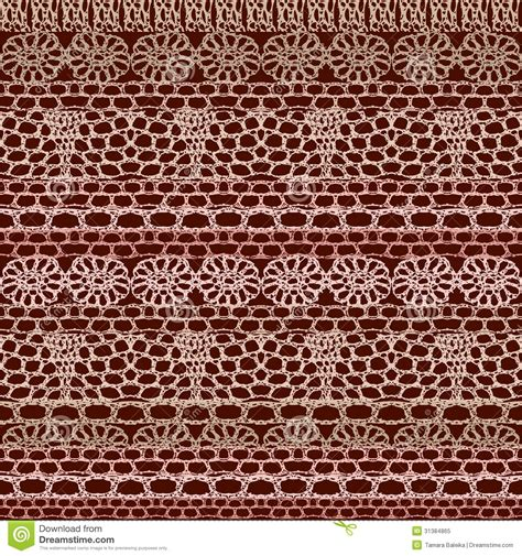 crochet pattern vector lace seamless crochet pattern stock vector image 31384865