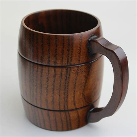 Handcrafted Coffee Mugs - wooden wood mug cup handmade tea milk coffee cup