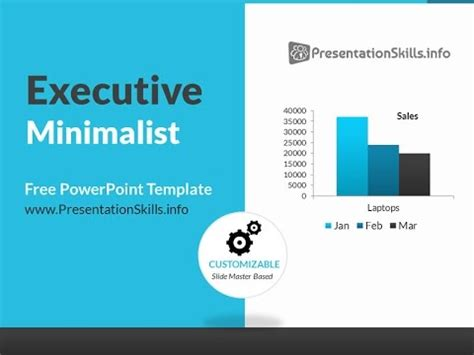 powerpoint slides template free executive minimalist blue powerpoint template
