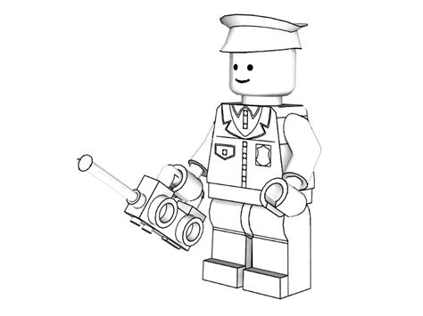 3d lego models colouring lego city policeman downloads