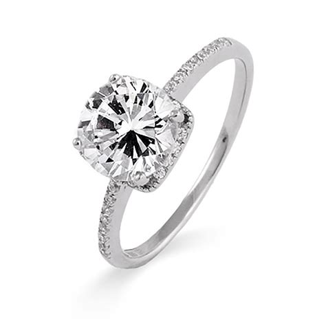 cheap cubic zirconia engagement rings choice image