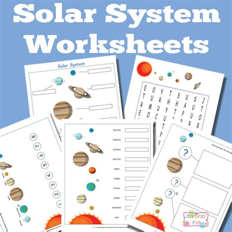 printable worksheets solar system kindergarten craftionary