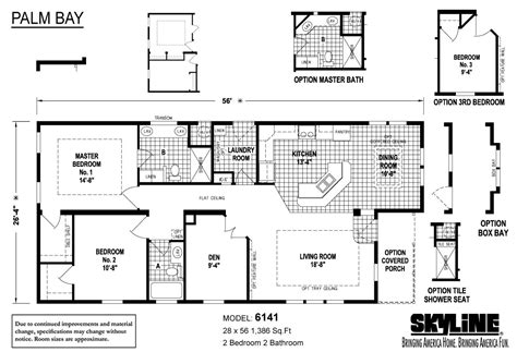 skyline homes floor plans palm bay 6141 by skyline homes