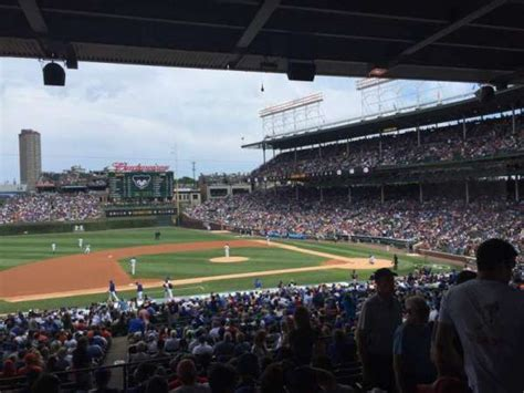 wrigley field section  row  home  chicago cubs