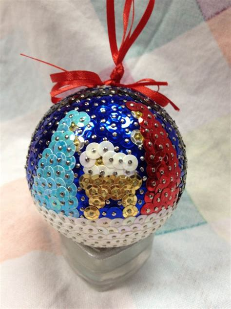 beautiful handmade sequin ornament  craftycraft