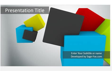 Free 3d Cubes Powerpoint 4795 Sagefox Powerpoint Templates Free 3d Powerpoint Presentation Templates