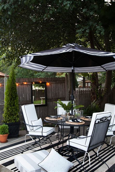 black and white patio furniture simple details tgif the gems i found