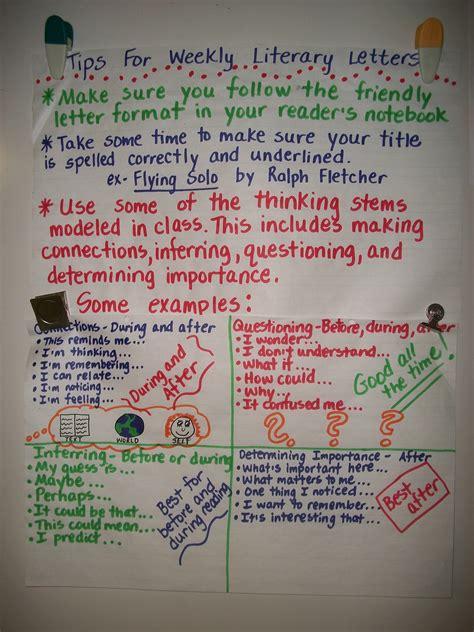 Letter Reading literary letter anchor chart i run read teach